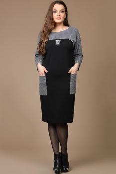 Платье Diomel 530 черный с серым