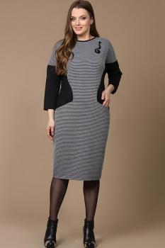 Платье Diomel 531 серый с черным