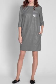 Платье Divina 1.376-2 Темно-серый
