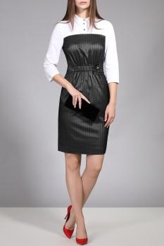 Платье Divina 1.901 Черно-белый