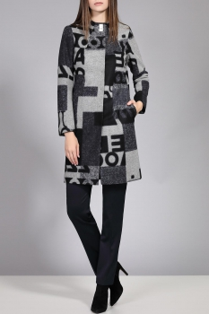 Пальто Divina 7.200 Черный/Серый