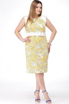 Платье Djerza 1019а-2 желтый узор