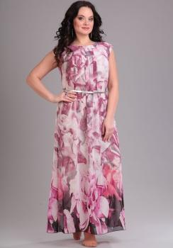 Платье Djerza 1339 розовые тона