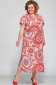 Платье Djerza 1420-1 коралл
