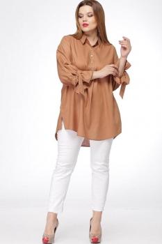 Блузка Djerza 199-1 оранжево-коричневый