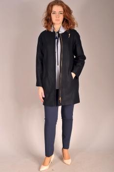 Пальто Edibor 1025 темные тона