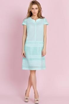 Платье Edibor 1060-1 бирюза