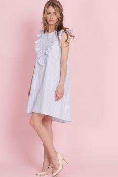 Платье Edibor 1082-1 голубой