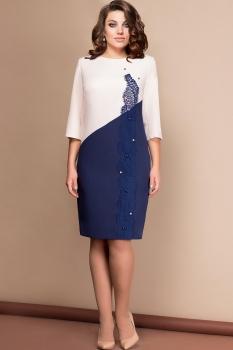 Платье Эледи 2507-1 Пудра/Темно-синий