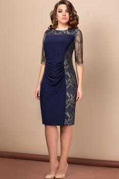Платье Эледи 2604-А Темно-синий