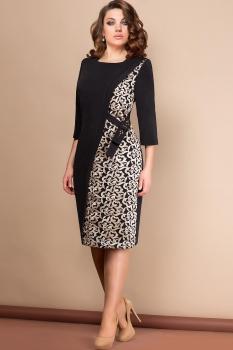 Платье Эледи 2614-1 Черный/Золотой