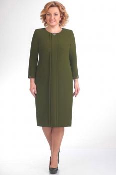 Платье Elga 01-440-1 олива