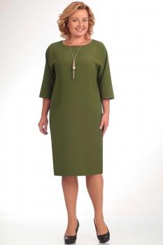 Платье Elga 01-472-18 олива