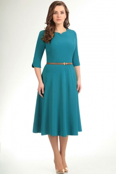 Платье Elga 01-487-4 бирюза