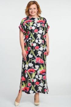 Платье Elga 01-500-2 маки