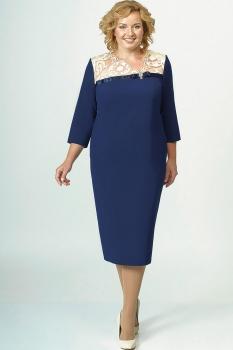 Платье Elga 01-505-1 синий