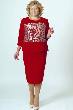 Платье Elga 01-509 красный