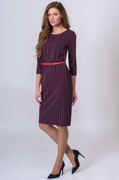 Платье Elga 01-513-1 слива