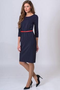 Платье Elga 01-513-2 синий