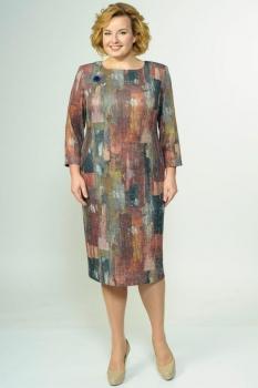 Платье Elga 01-520 кирпичный