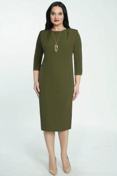 Платье Elga 01-526-1 олива