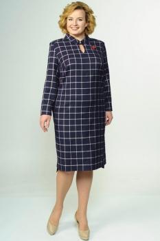 Платье Elga 01-527 темно-синий