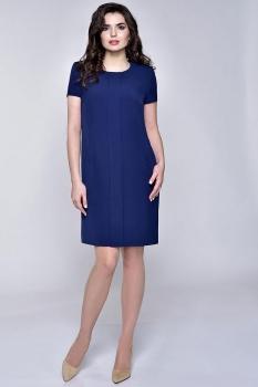 Платье Elga 01-531 темно-синий