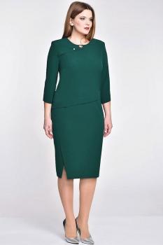 Платье Elga 01-533-1 темная зелень