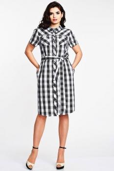 Платье Elga 01-535-1 черно-белый