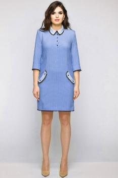 Платье Elga 01-538-1 голубой