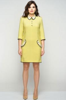 Платье Elga 01-538 горчица