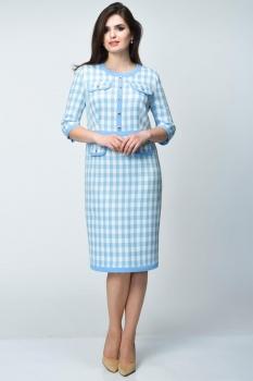 Платье Elga 01-540-1 голубой