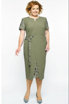 Платье Elga 01-542-1 олива