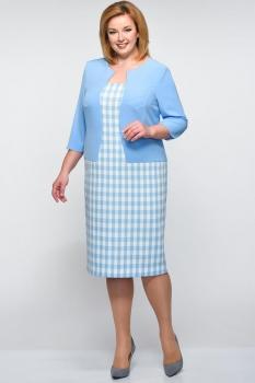 Платье Elga 01-544-1 голубой