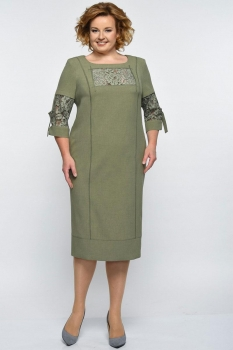 Платье Elga 01-545-1 олива
