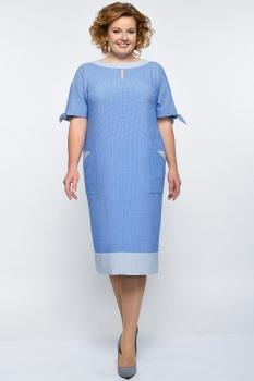 Платье Elga 01-546-1 голубой