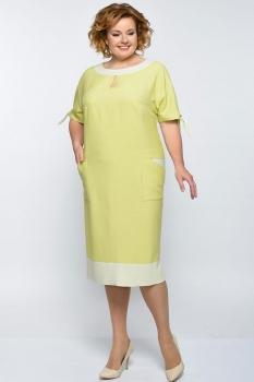 Платье Elga 01-546 горчица
