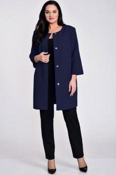 Пальто Elga 41-530-3 темно-синий