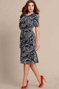 Платье Elza 2702 Синий/Узор