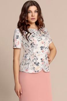Пиджак Elza 2720 Белый/Серый/Розовый