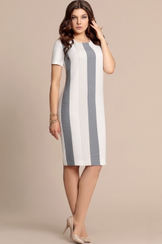 Платье Elza 2730 Бело-синий