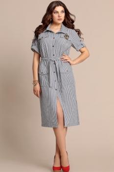 Платье Elza 2746 Бело-синяя полоска