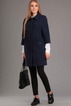 Пальто Эола Стиль 1250 темно-синий