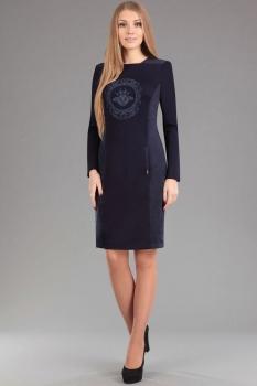 Платье Эола Стиль 1277 темно-синий