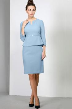 Платье Эола Стиль 1382 голубой