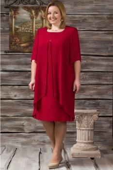 Платье Erika Style 405 бордо