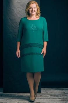 Платье Erika Style 426-2 зеленый