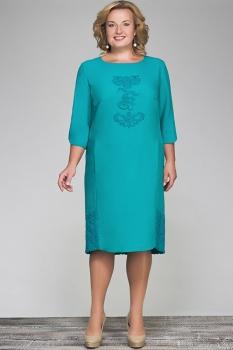 Платье Erika Style 432-1 бирюза
