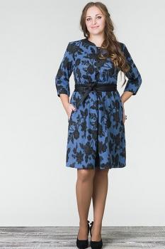 Платье Erika Style 452 синий