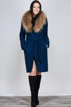 Пальто Erika Style 477-2 синий